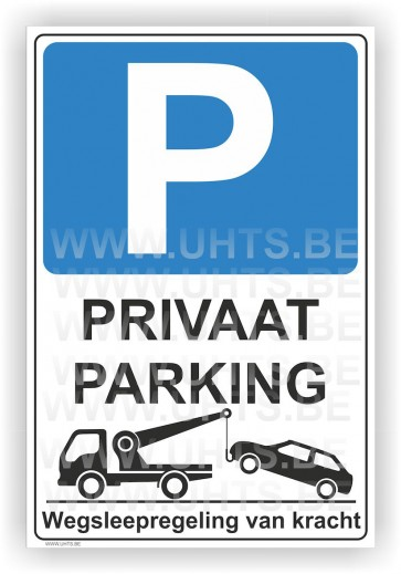 Parkeerbord. Art.P17 Privaat parking