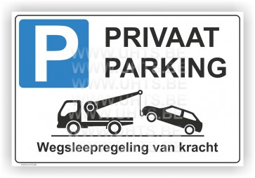 Parkeerbord. Art.P11 Privaat parking