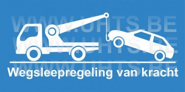 Garagepoort sticker.