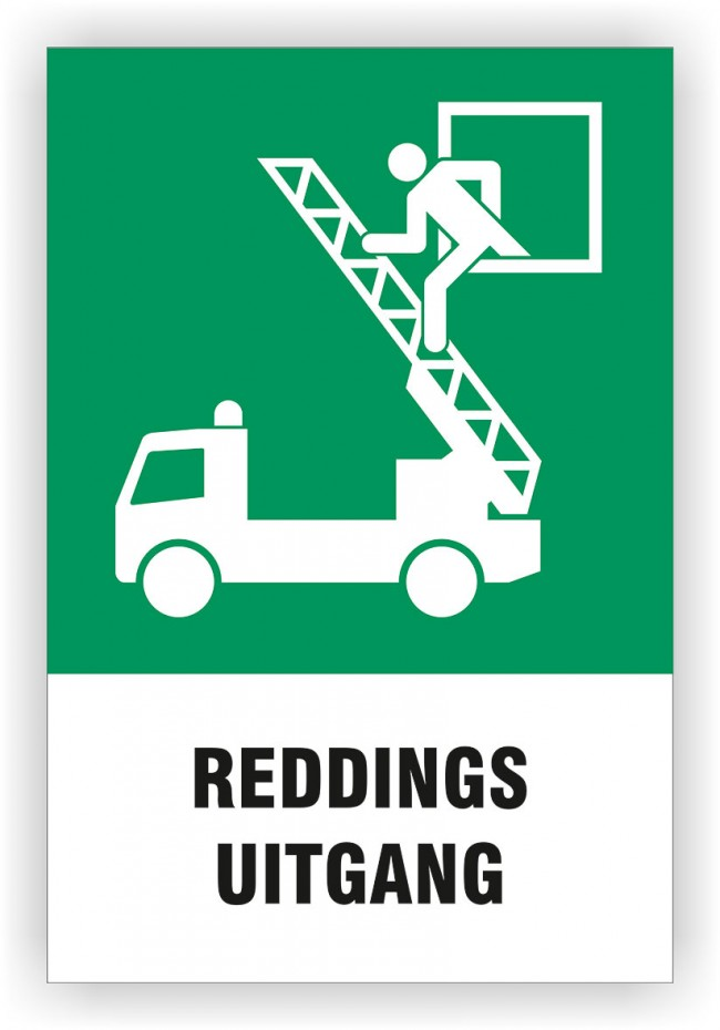Bord Reddings Uitgang Quot 300x450 Mm Iso 7010 Uhts Sign